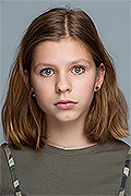 model Koblova Adelina    Year of birth 2007    Eyes color: grey-blue    Hair color: light brown