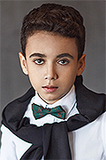 model Mishiev Migel    Year of birth 2007    Eyes color: brown    Hair color: dark brown