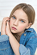model Prosvirnikova Glafira    Year of birth 2006    Eyes color: grey-blue    Hair color: light brown