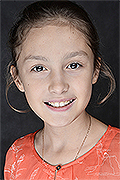 model Izmaylova Elizaveta    Year of birth 2007    Eyes color: brown    Hair color: light brown