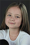 model Homzhukova Evgenia    Year of birth 2006    Eyes color: brown    Hair color: light brown