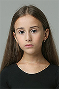 model Romanova Karina    Year of birth 2010    Eyes color: brown    Hair color: light brown