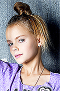 model Podguzova Aleksandra    Year of birth 2006    Eyes color: grey    Hair color: light brown
