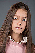 model Vostretsova Sandra    Year of birth 2010    Eyes color: blue    Hair color: light brown