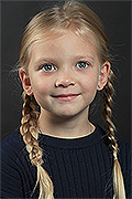 model Klepova Sofya    Year of birth 2013    Eyes color: green-blue    Hair color: blond