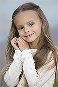 model Makarova Sofiya    Year of birth 2013    Eyes color: brown    Hair color: light brown