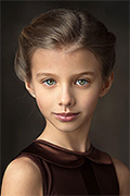 model Soboleva Kristina    Year of birth 2008    Eyes color: grey-green    Hair color: light brown