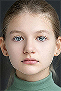 model Bugulova Elizaveta    Year of birth 2010    Eyes color: grey-blue    Hair color: light brown