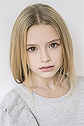 model Platonova Aleksandra    Year of birth 2009    Eyes color: brown    Hair color: light brown