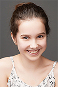 model Orlova Valeriya    Year of birth 2005    Eyes color: brown-green    Hair color: dark brown