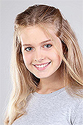model Pechka Anzhelika    Year of birth 2006    Eyes color: grey    Hair color: light brown